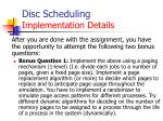 disc scheduling implementation details4