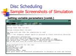 disc scheduling sample screenshots of simulation1
