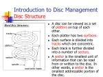 introduction to disc management disc structure