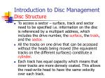 introduction to disc management disc structure1