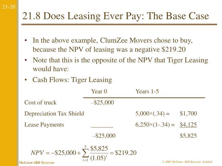 Cash Flows: Tiger Leasing