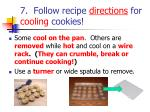 7 follow recipe directions for cooling cookies