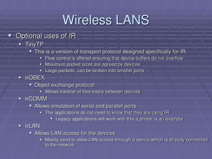 Wireless LANS