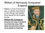 william of normandy conquered england
