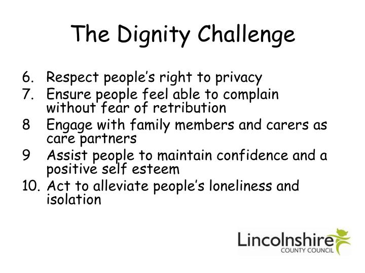 The Dignity Challenge