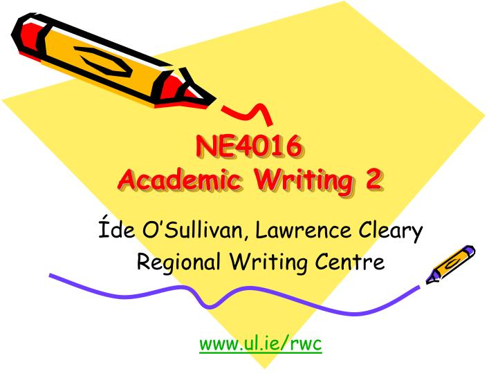 ne4016 academic writing 2 n.