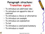 paragraph structure transition signals1