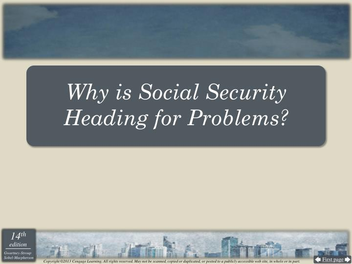 Why is Social Security