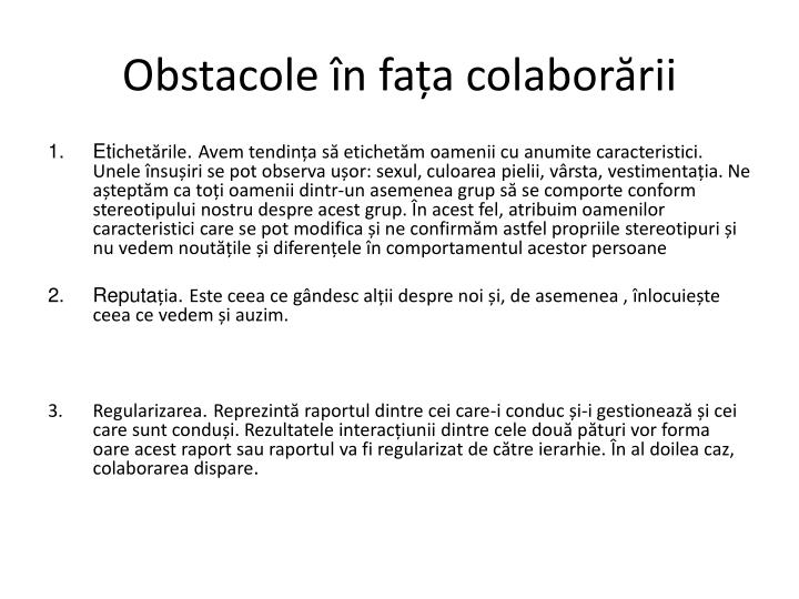 Obstacole
