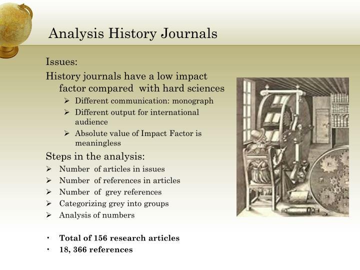 Analysis History Journals