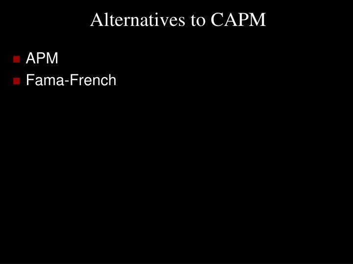 Alternatives to CAPM