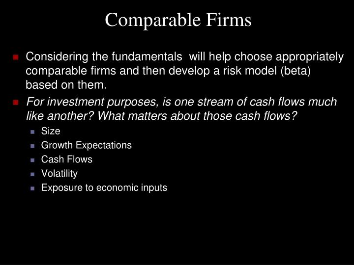 Comparable Firms