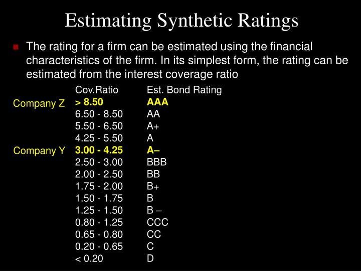 Estimating Synthetic Ratings