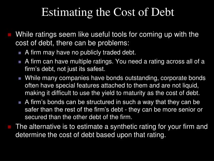 Estimating the Cost of Debt
