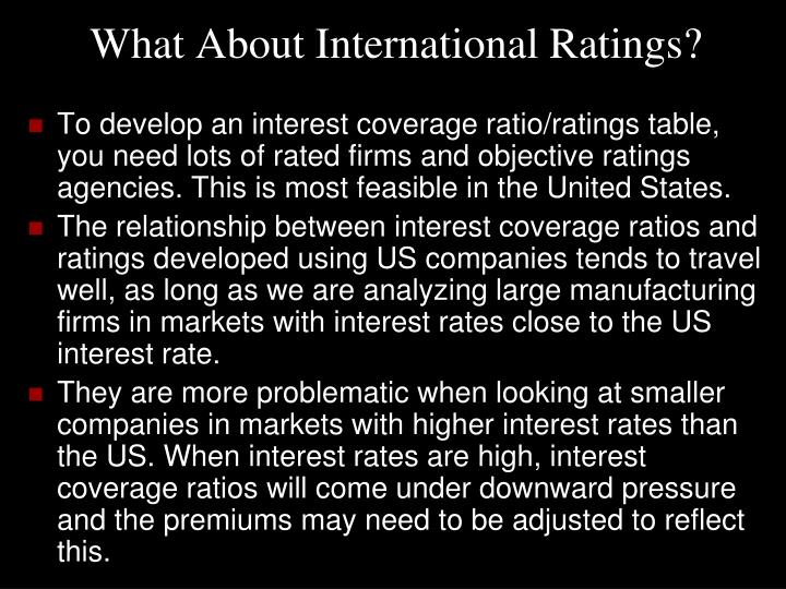 What About International Ratings?