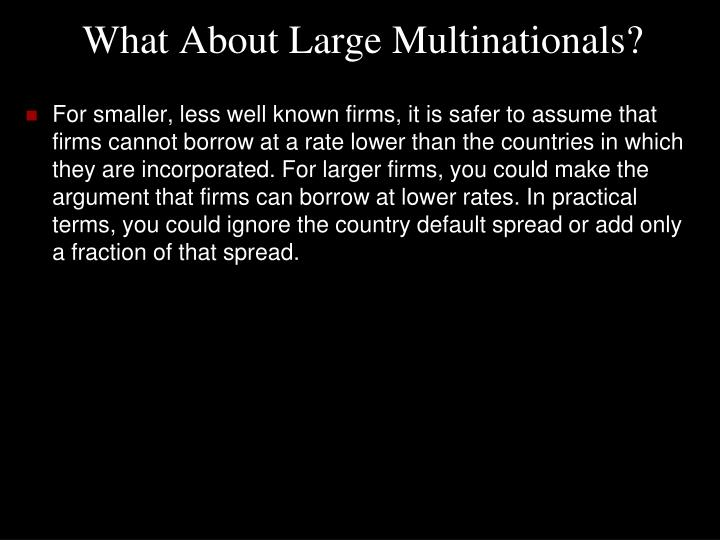 What About Large Multinationals?