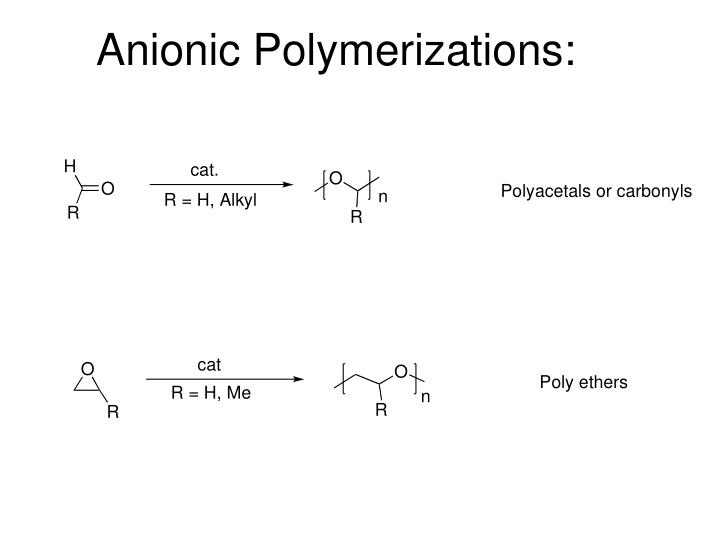 Anionic Polymerizations: