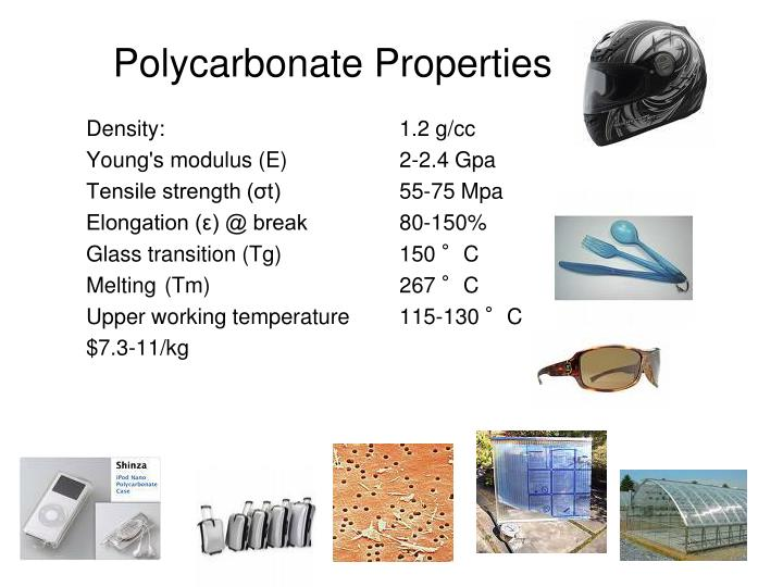 Polycarbonate Properties