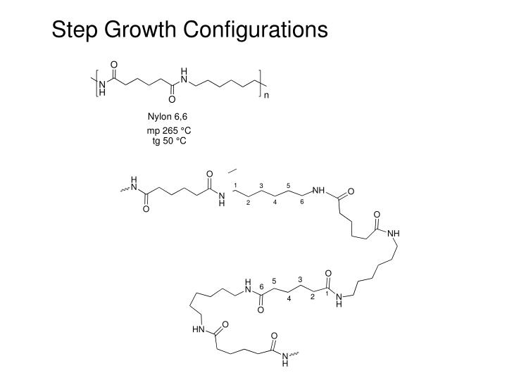 Step Growth Configurations