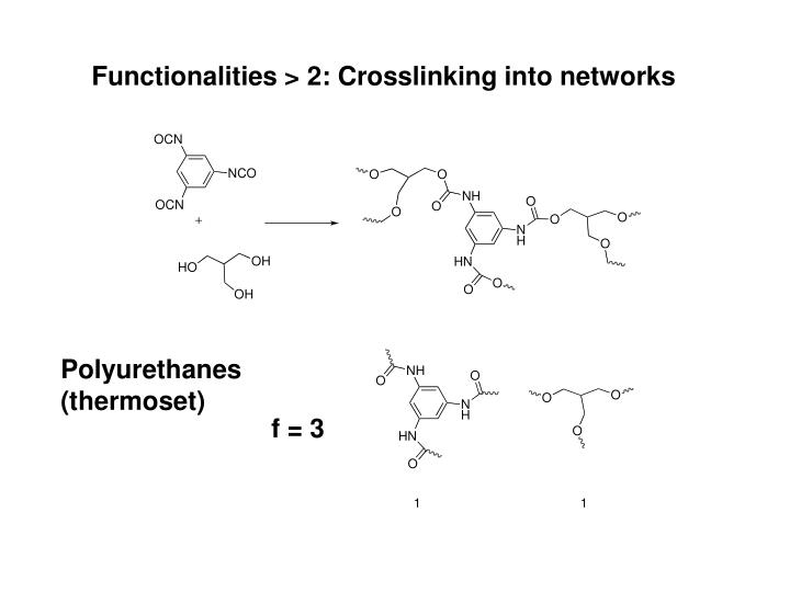 Functionalities > 2: Crosslinking into networks