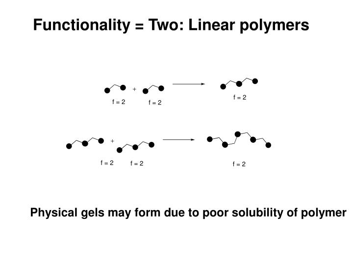Functionality = Two: Linear polymers