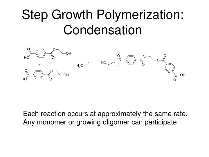 Step Growth Polymerization: Condensation