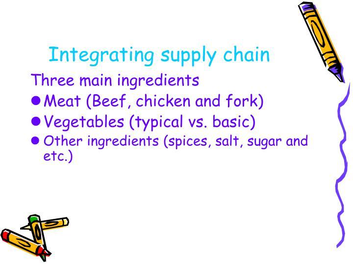 Integrating supply chain