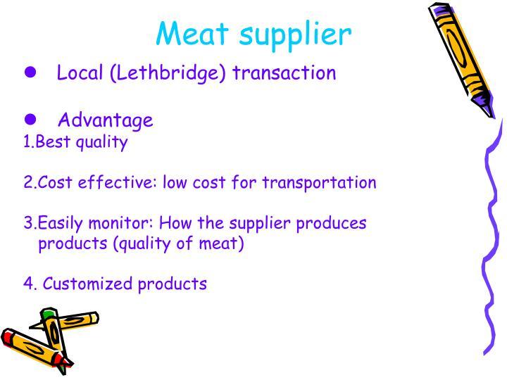 Meat supplier