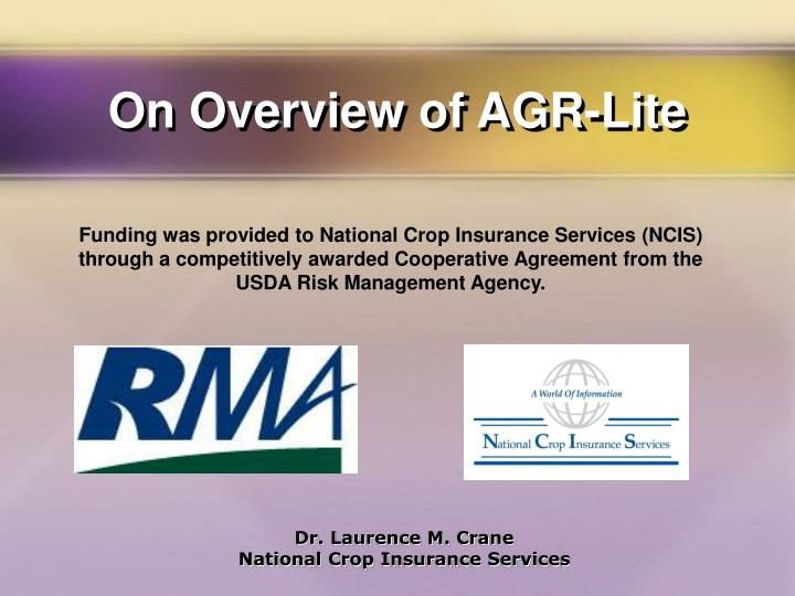 on overview of agr lite n.