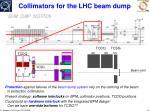 collimators for the lhc beam dump