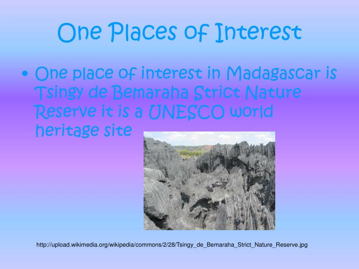 One Places of Interest