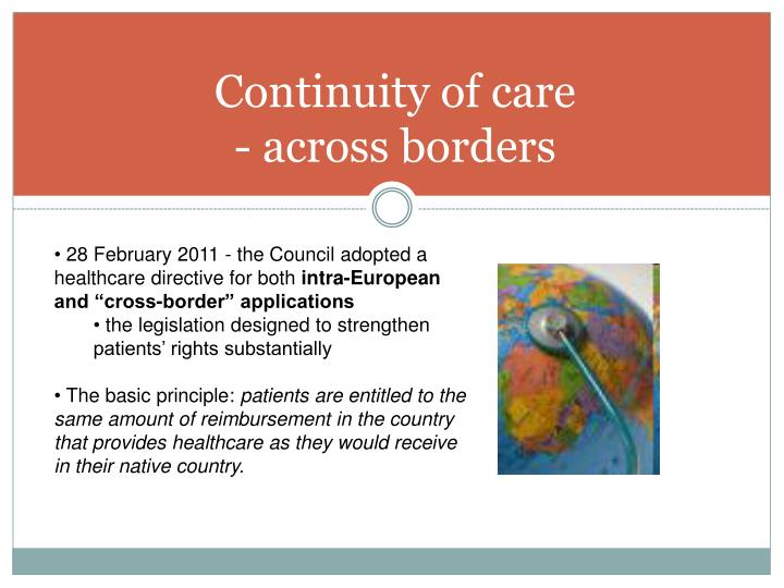 Continuity of care