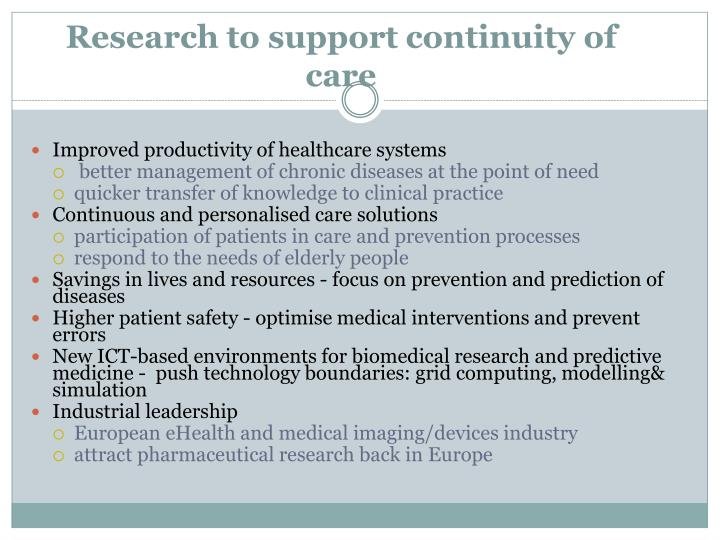 Research to support