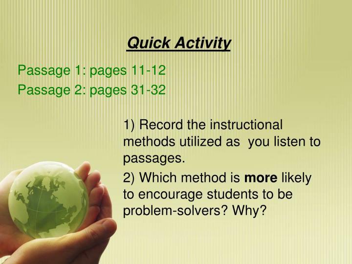 Quick Activity