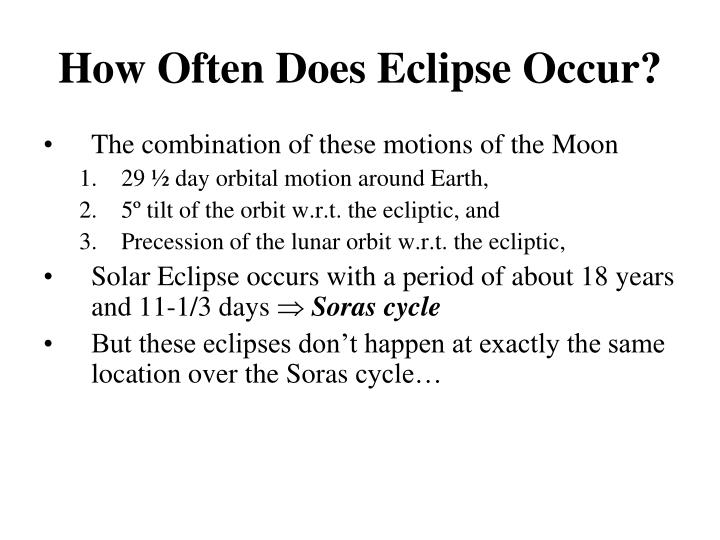 How Often Does Eclipse Occur?