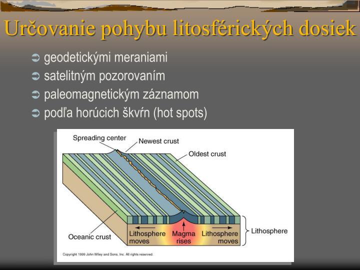 Určovanie pohybu litosférických dosiek