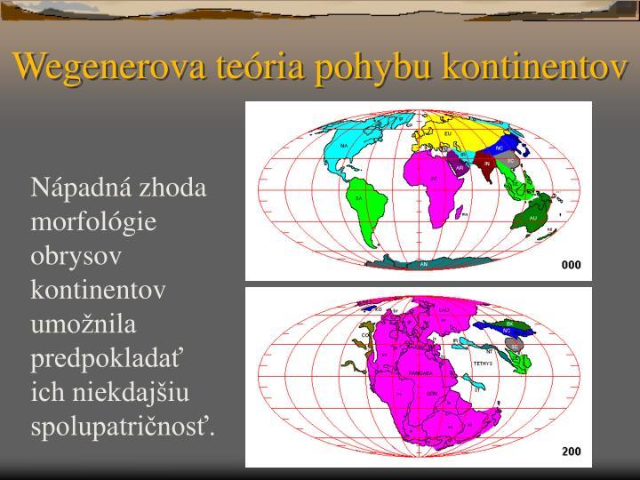 Wegenerova te ria pohybu kontinentov