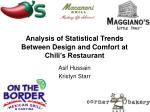 analysis of statistical trends between design and comfort at chili s restaurant
