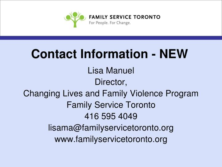 Contact Information - NEW