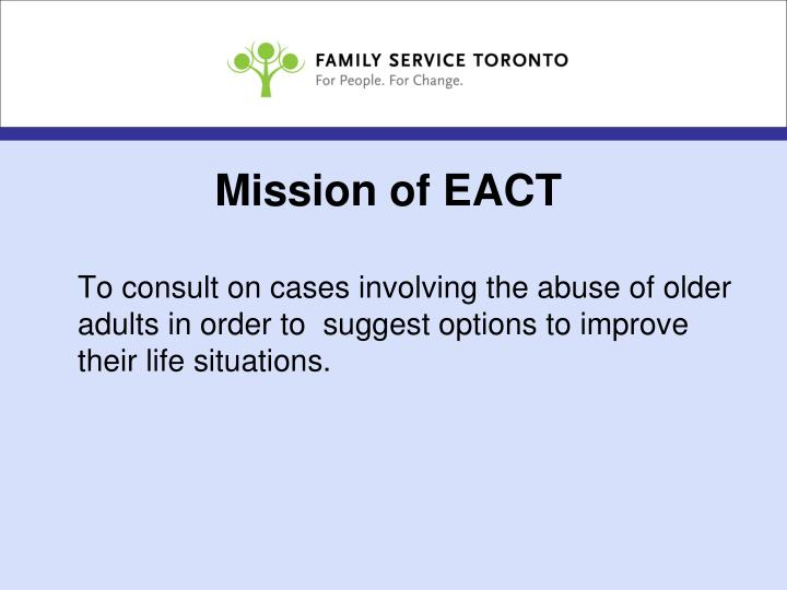 Mission of EACT