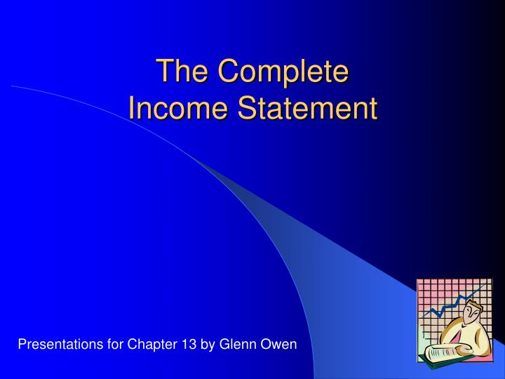 the complete income statement n.