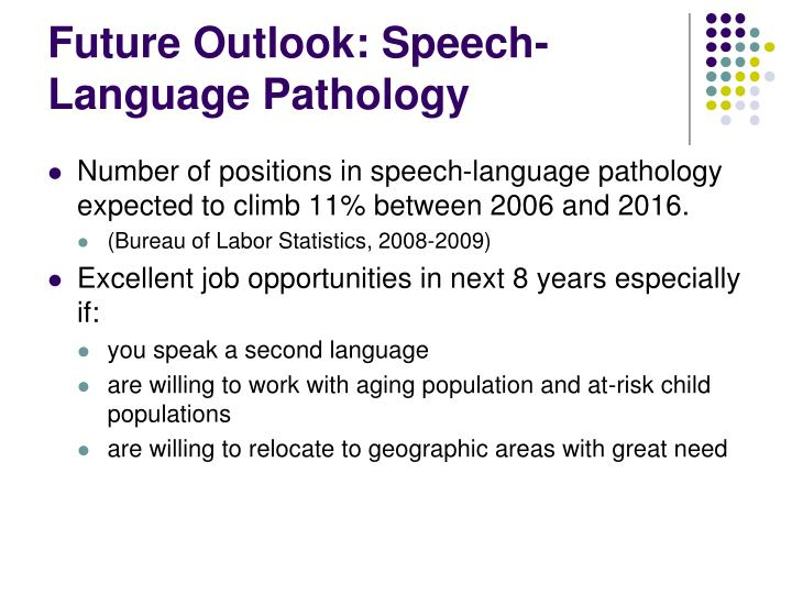 Future Outlook: Speech-Language Pathology