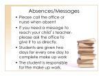absences messages