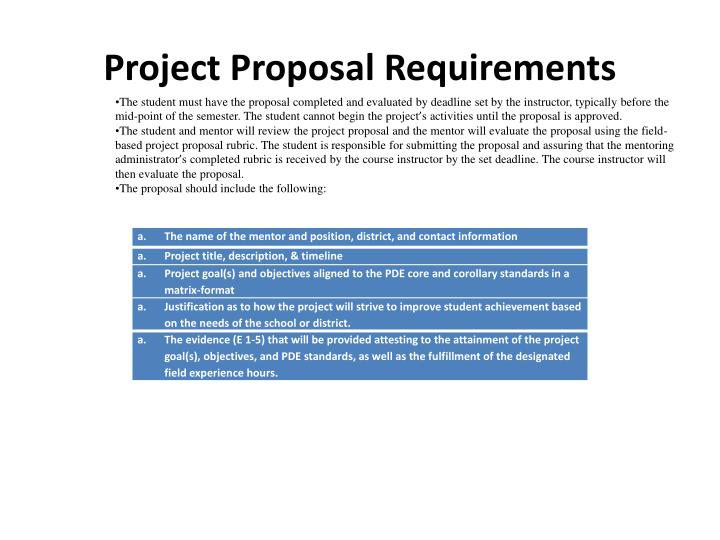 Project Proposal Requirements