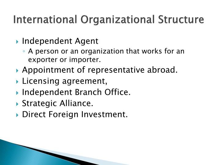 International Organizational Structure