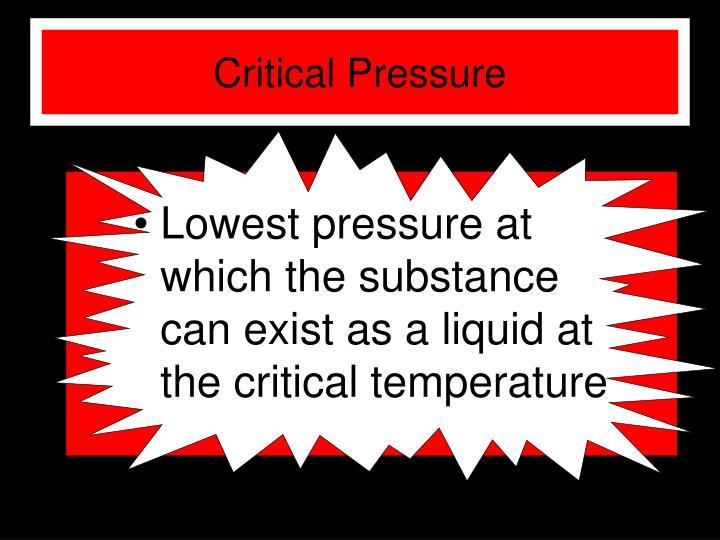 Critical Pressure