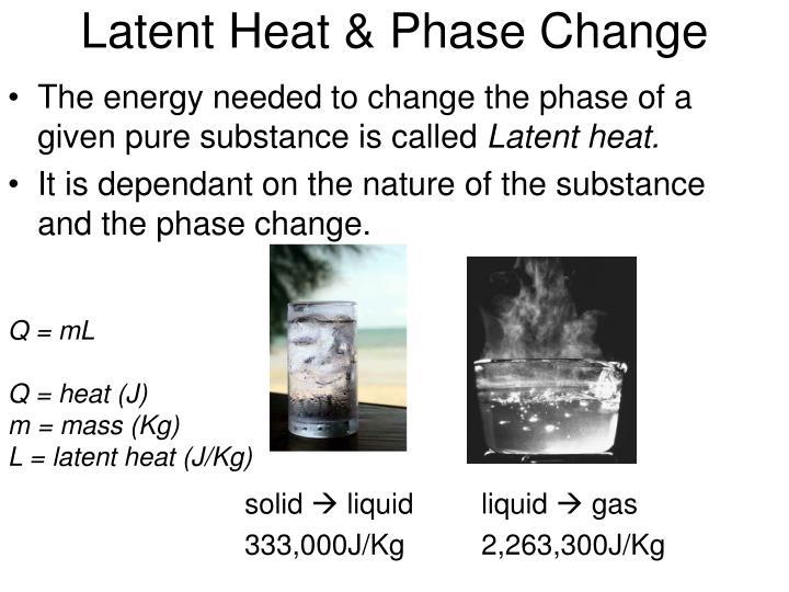Latent Heat & Phase Change