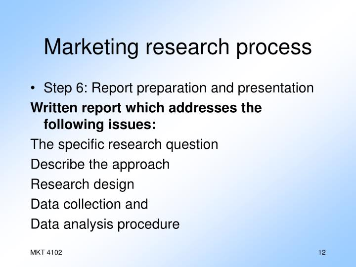 Marketing research process
