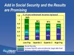 add in social security and the results are promising