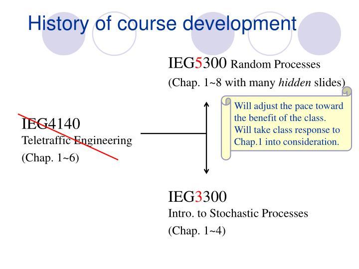 History of course development
